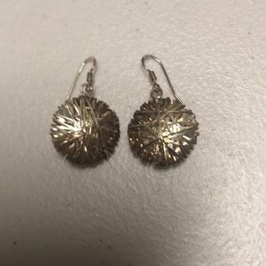 925 earrings silver with a rise tint
